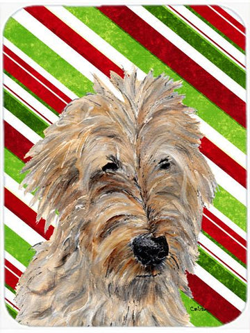 Buy this Golden Doodle 2 Candy Cane Christmas Glass Cutting Board Large Size SC9811LCB