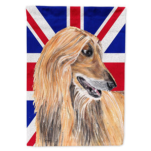 Buy this Afghan Hound with English Union Jack British Flag Flag Garden Size