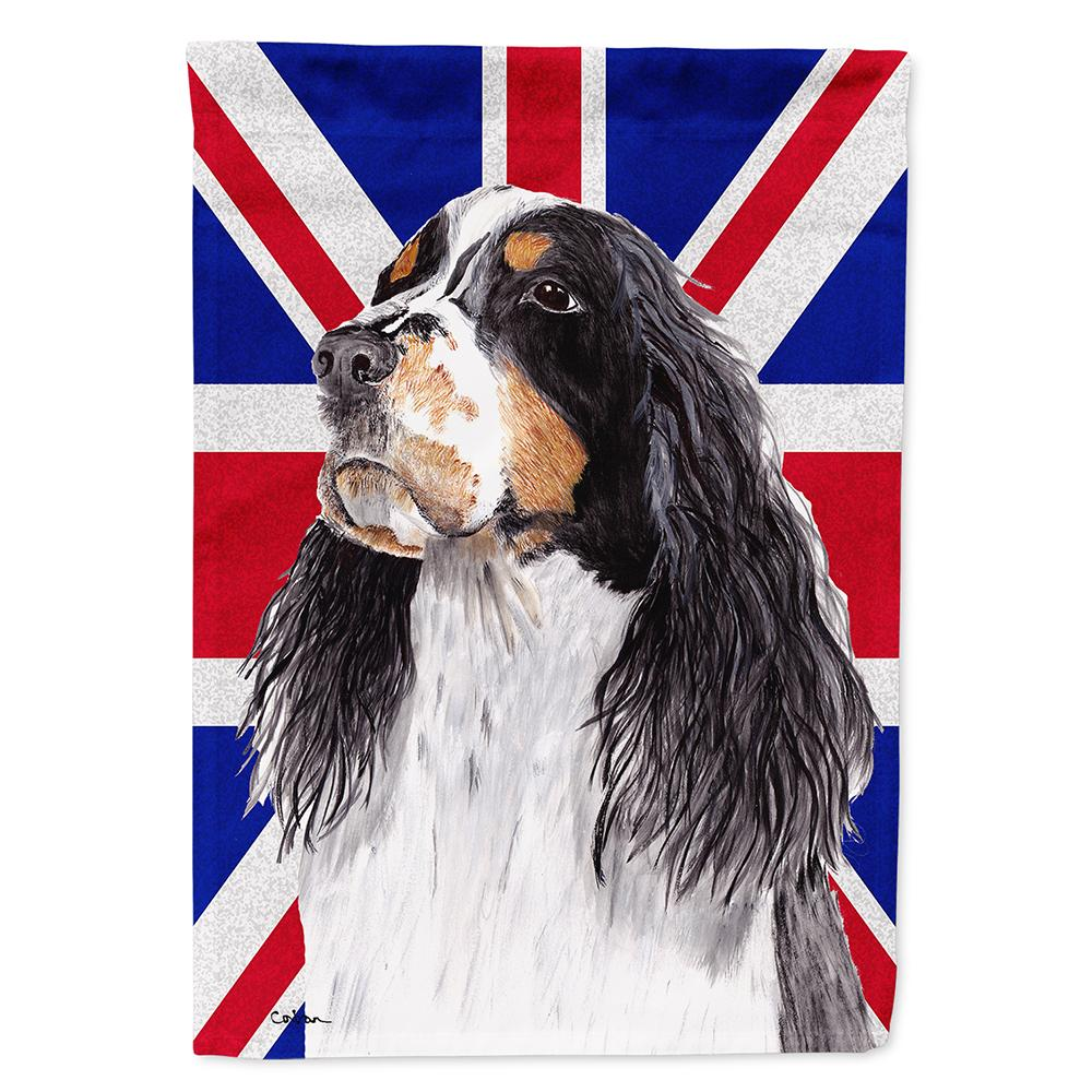 Buy this Welsh Springer Spaniel with English Union Jack British Flag Flag Garden Size SC9817GF