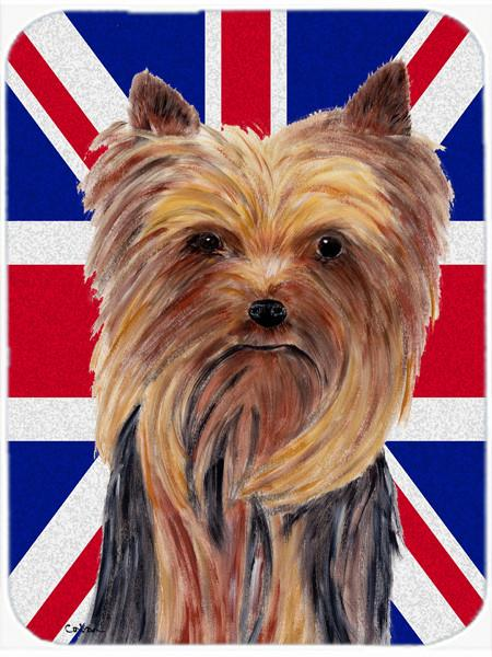 Buy this Yorkie with English Union Jack British Flag Mouse Pad, Hot Pad or Trivet SC9822MP