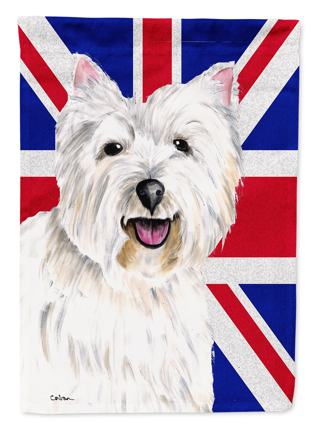 Westie with English Union Jack British Flag Flag Garden Size SC9827GF by Caroline's Treasures