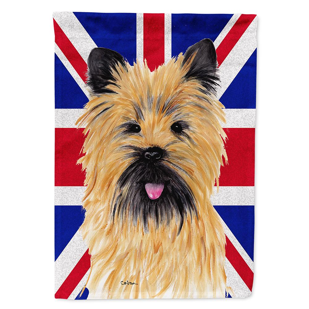 Buy this Cairn Terrier with English Union Jack British Flag Flag Garden Size