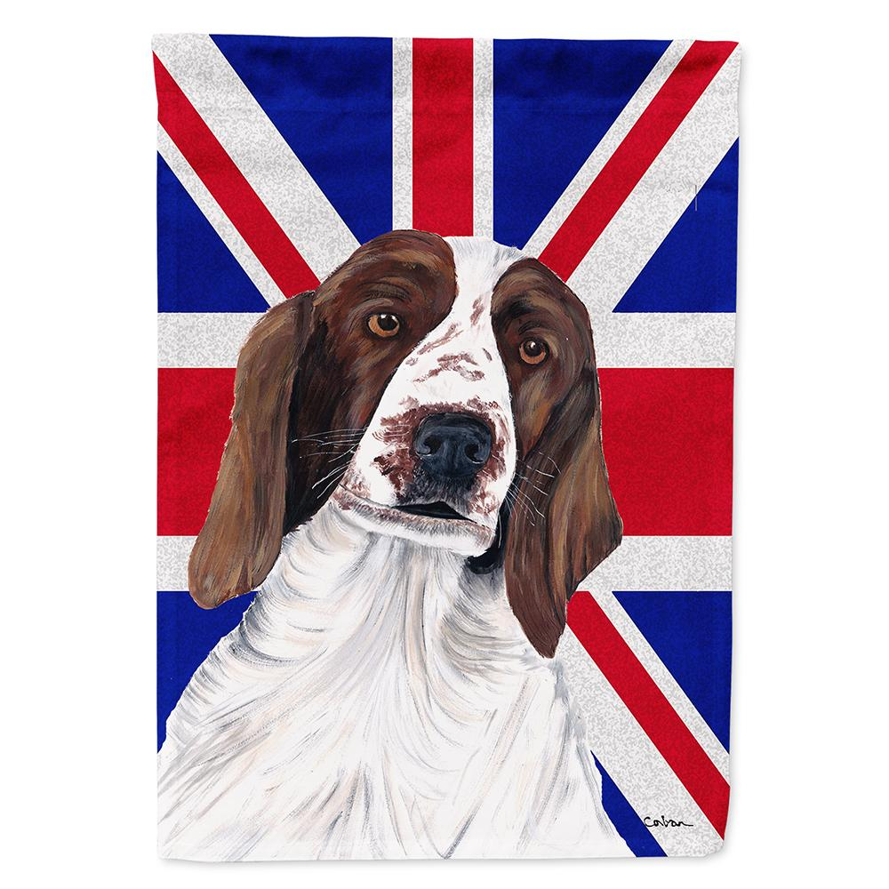 Buy this Springer Spaniel with English Union Jack British Flag Flag Garden Size