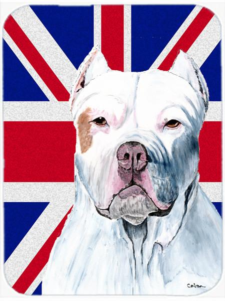 Pit Bull with English Union Jack British Flag Mouse Pad, Hot Pad or Trivet SC9838MP by Caroline's Treasures