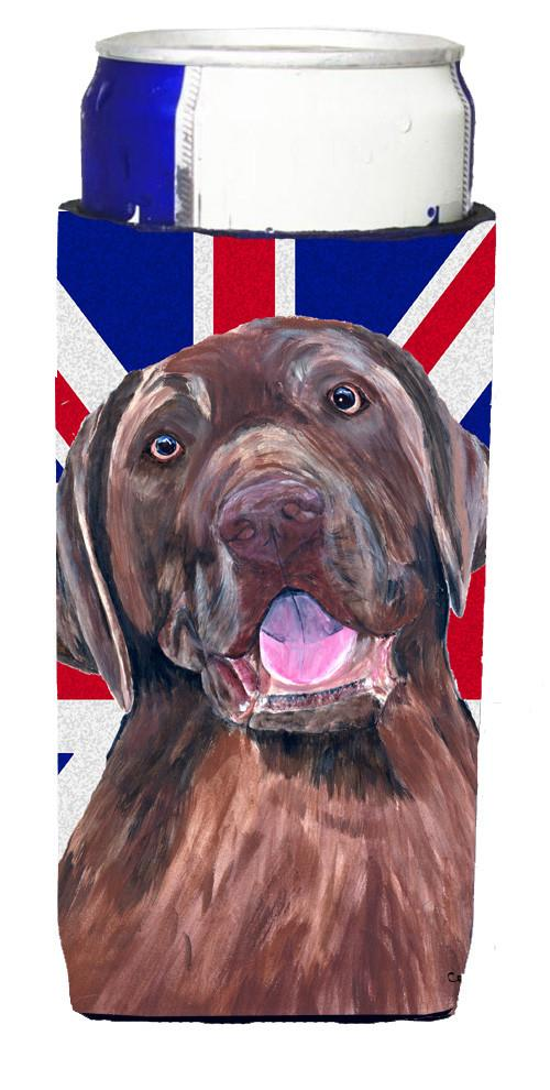 Labrador with English Union Jack British Flag Ultra Beverage Insulators for slim cans SC9841MUK by Caroline's Treasures