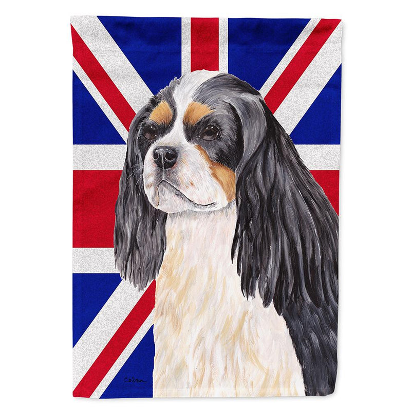 Buy this Cavalier Spaniel with English Union Jack British Flag Flag Garden Size