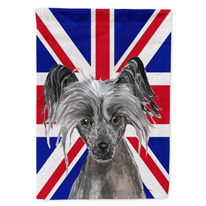 Buy this Chinese Crested with English Union Jack British Flag Flag Garden Size SC9857GF