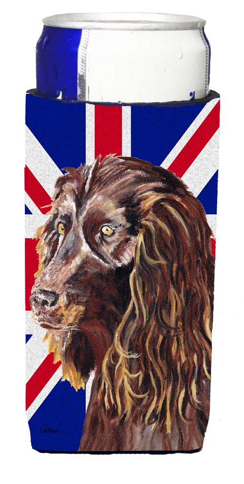 Boykin Spaniel with Engish Union Jack British Flag Ultra Beverage Insulators for slim cans SC9862MUK by Caroline's Treasures