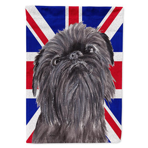Buy this Brussels Griffon with Engish Union Jack British Flag Flag Garden Size SC9863GF