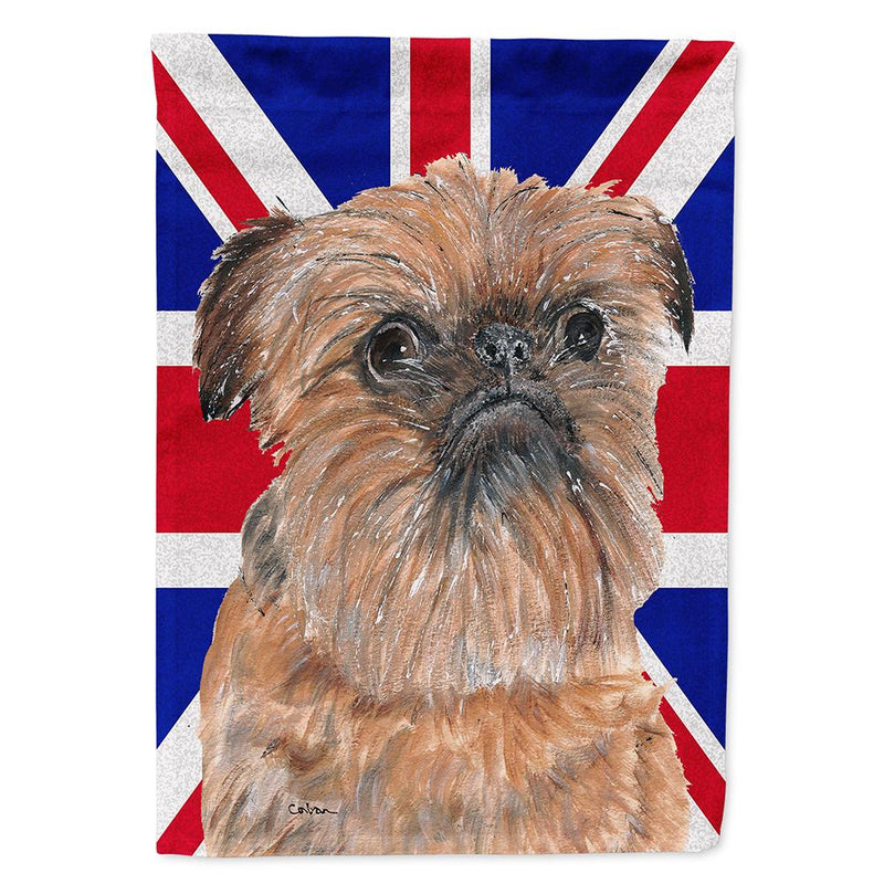 Buy this Brussels Griffon with Engish Union Jack British Flag Flag Garden Size