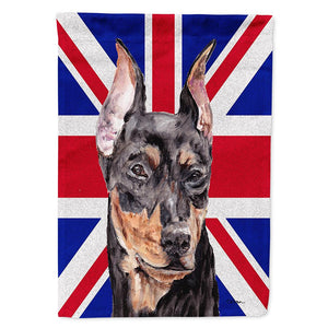 Buy this German Pinscher with English Union Jack British Flag Flag Garden Size SC9872GF