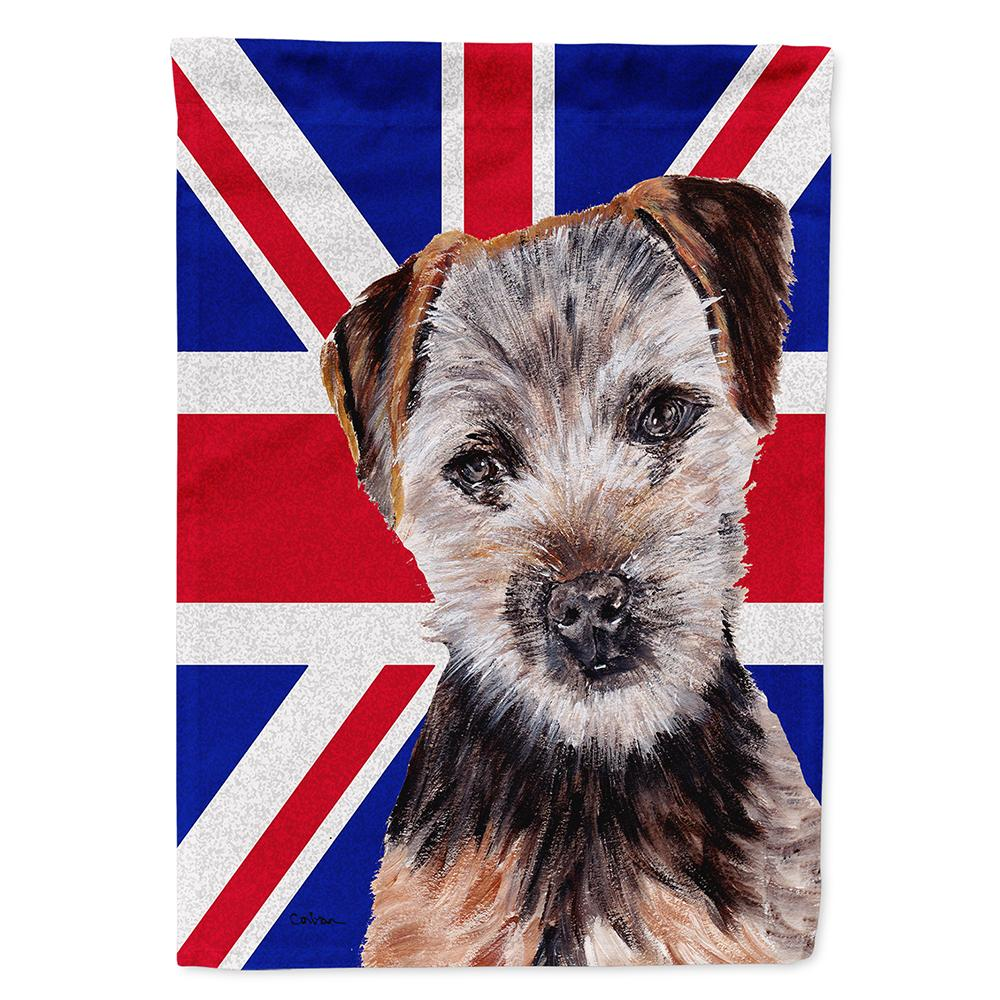 Buy this Norfolk Terrier Puppy with English Union Jack British Flag Flag Garden Size SC9876GF