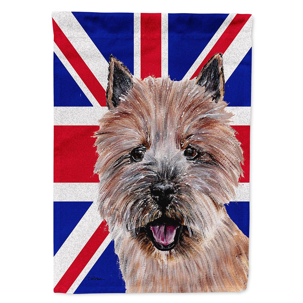 Buy this Norwich Terrier with English Union Jack British Flag Flag Garden Size