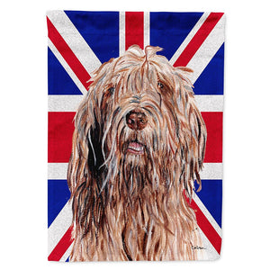 Buy this Otterhound with English Union Jack British Flag Flag Garden Size SC9878GF