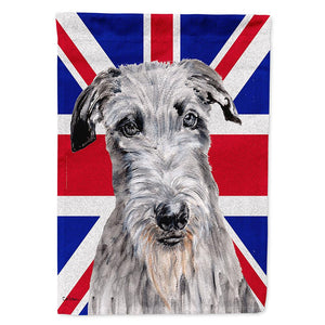 Buy this Scottish Deerhound with English Union Jack British Flag Flag Garden Size SC9881GF