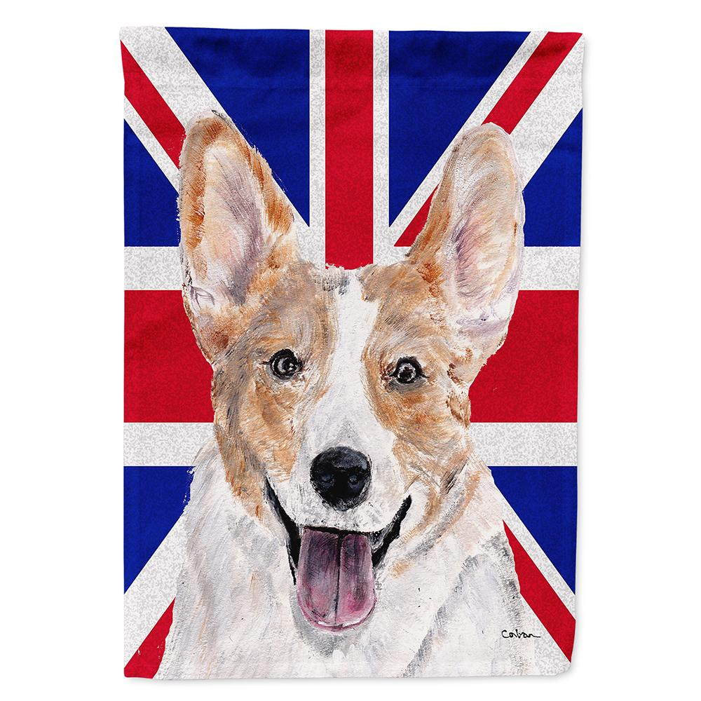 Buy this Cardigan Corgi with English Union Jack British Flag Flag Garden Size SC9891GF
