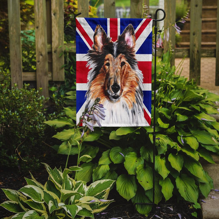 Buy this Collie with English Union Jack British Flag Flag Garden Size SC9893GF