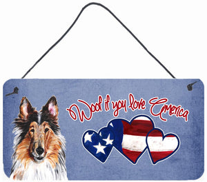 Buy this Woof if you love America Collie Wall or Door Hanging Prints SC9894DS612