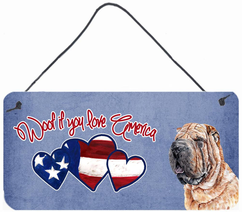 Buy this Woof if you love America Shar Pei Wall or Door Hanging Prints SC9895DS612