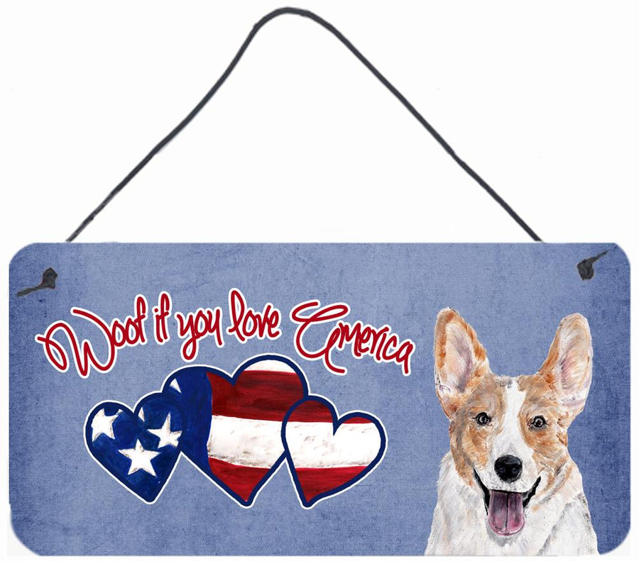 Buy this Woof if you love America Corgi Wall or Door Hanging Prints SC9896DS612