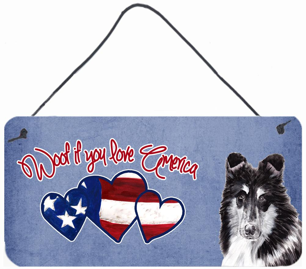 Buy this Woof if you love America Collie Wall or Door Hanging Prints SC9902DS612