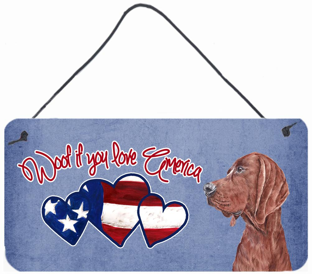 Buy this Woof if you love America Redbone Coonhound Wall or Door Hanging Prints