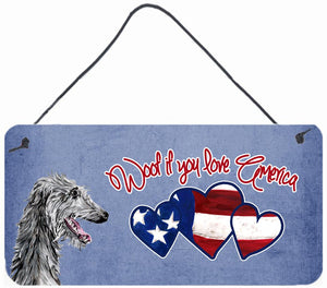 Buy this Woof if you love America Scottish Deerhound Wall or Door Hanging Prints