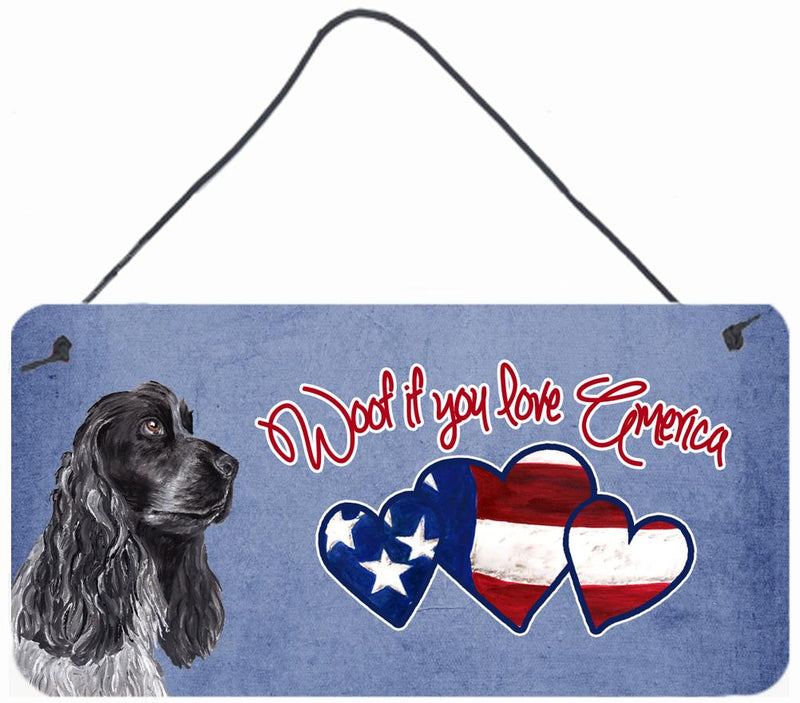 Buy this Woof if you love America Cocker Spaniel Wall or Door Hanging Prints SC9920DS612