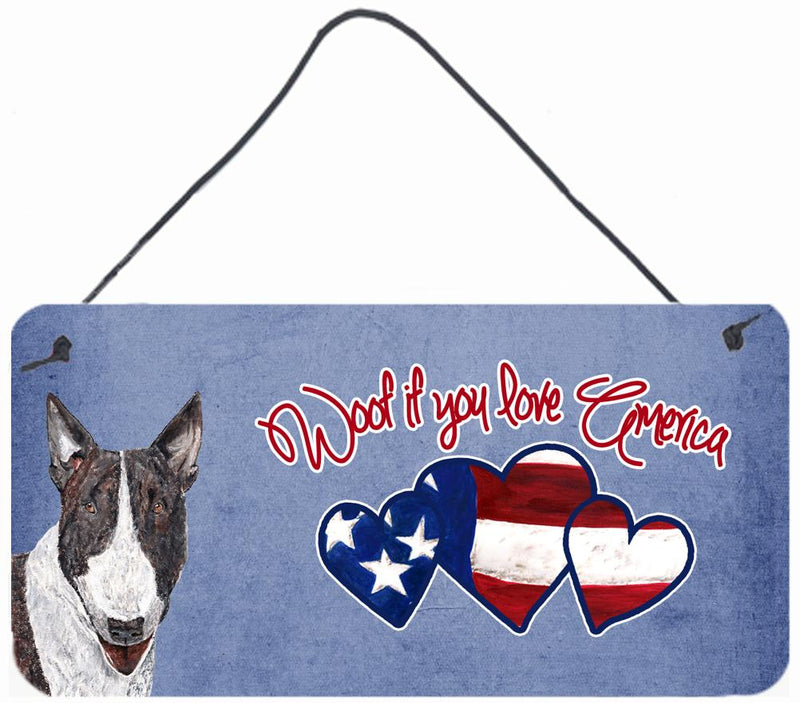 Buy this Woof if you love America Bull Terrier Wall or Door Hanging Prints SC9927DS612