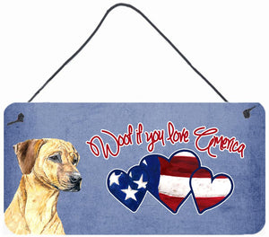 Buy this Woof if you love America Rhodesian Ridgeback Wall or Door Hanging Prints