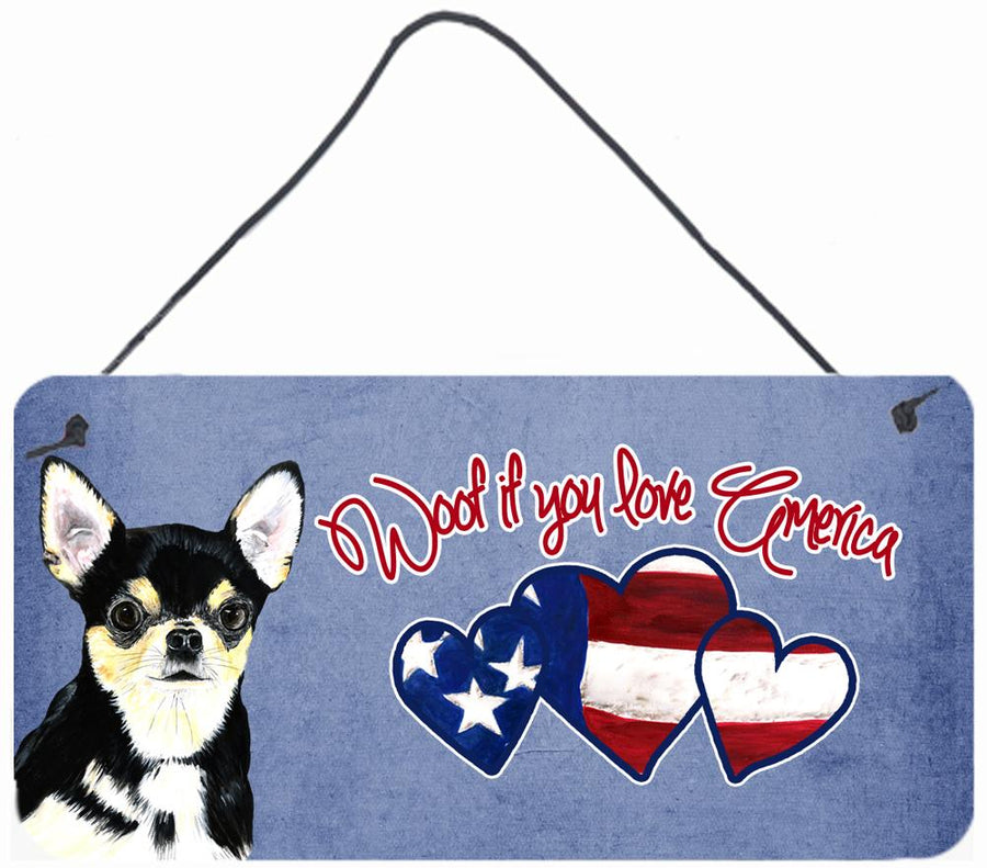 Buy this Woof if you love America Chihuahua Wall or Door Hanging Prints SC9933DS612
