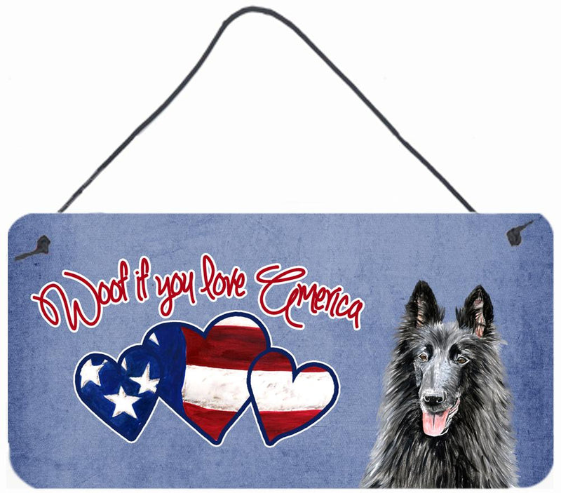 Buy this Woof if you love America Belgian Sheepdog Wall or Door Hanging Prints