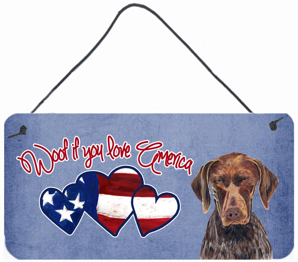 Buy this Woof if you love America German Shorthaired Pointer Wall or Door Hanging Prints