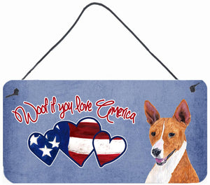 Buy this Woof if you love America Basenji Wall or Door Hanging Prints SC9942DS612