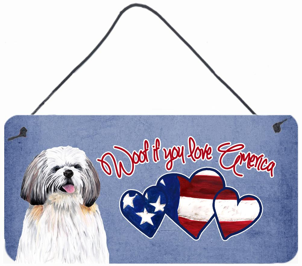 Buy this Woof if you love America Shih Tzu Wall or Door Hanging Prints SC9946DS612