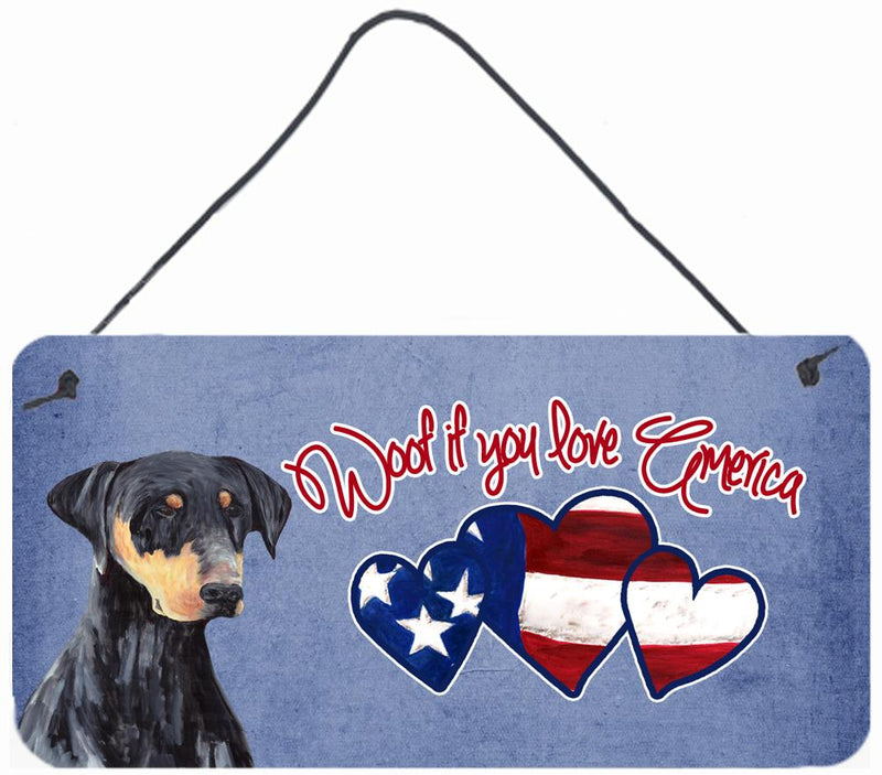 Buy this Woof if you love America Doberman Wall or Door Hanging Prints SC9952DS612
