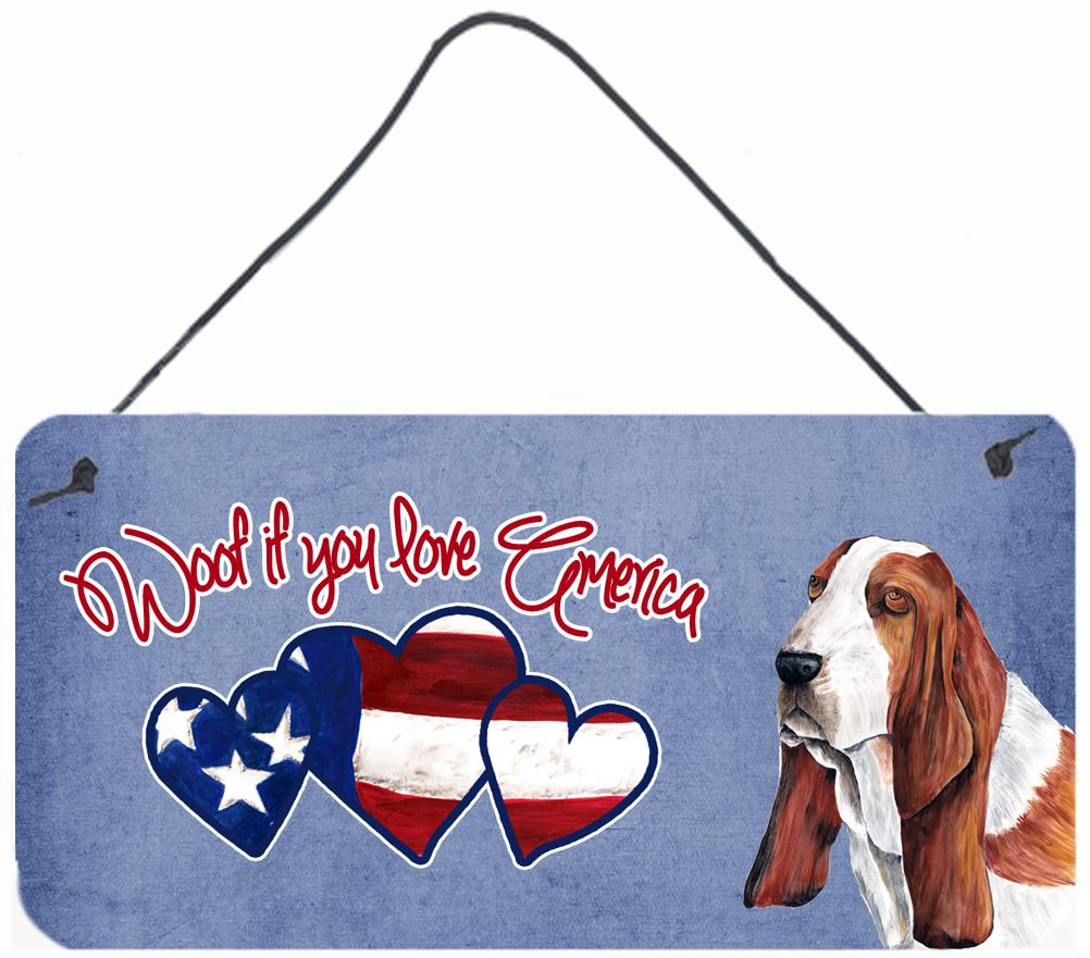 Buy this Woof if you love America Basset Hound Wall or Door Hanging Prints SC9957DS612