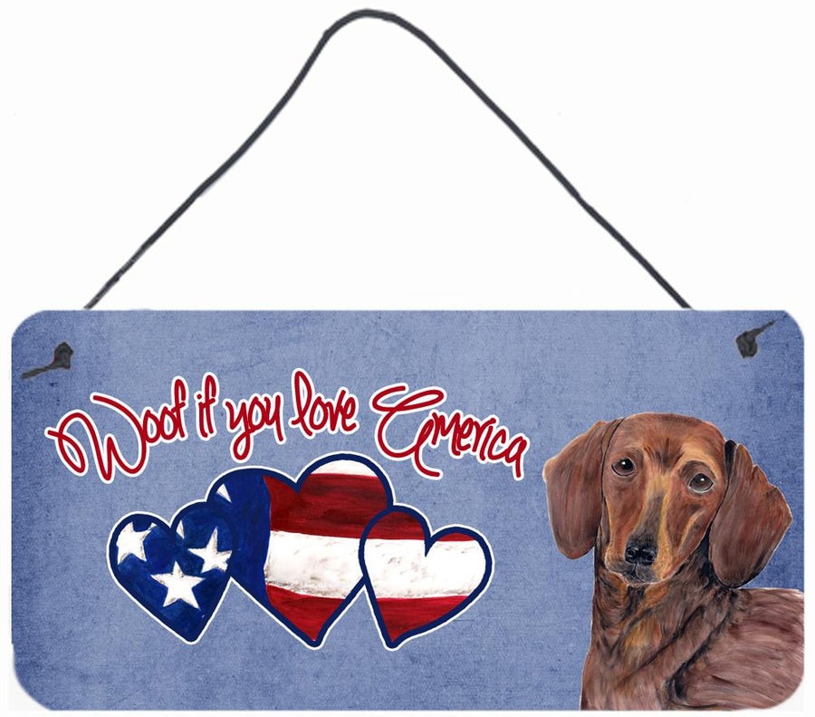 Buy this Woof if you love America Dachshund Wall or Door Hanging Prints SC9961DS612