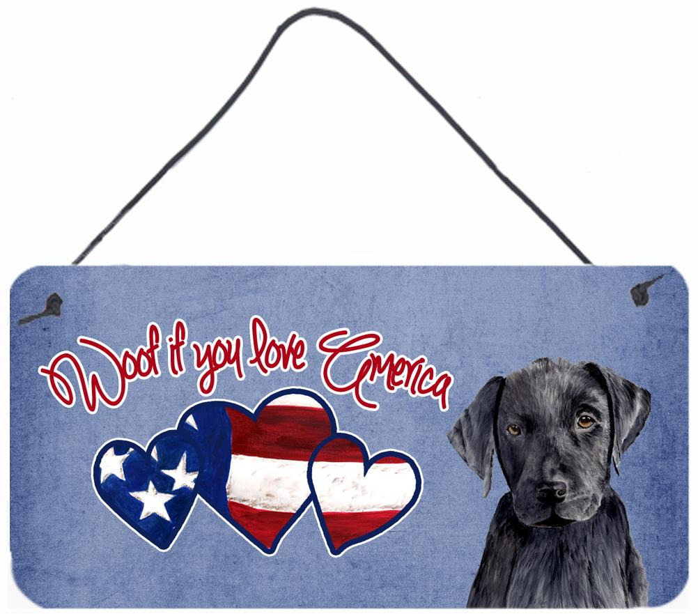 Buy this Woof if you love America Black Labrador Wall or Door Hanging Prints SC9965DS612