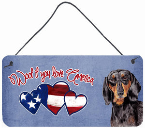 Buy this Woof if you love America Dachshund Wall or Door Hanging Prints SC9966DS612