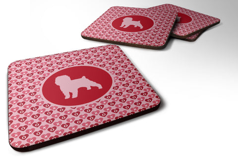 Buy this Set of 4 Affenpinscher Valentine Hearts Foam Coasters