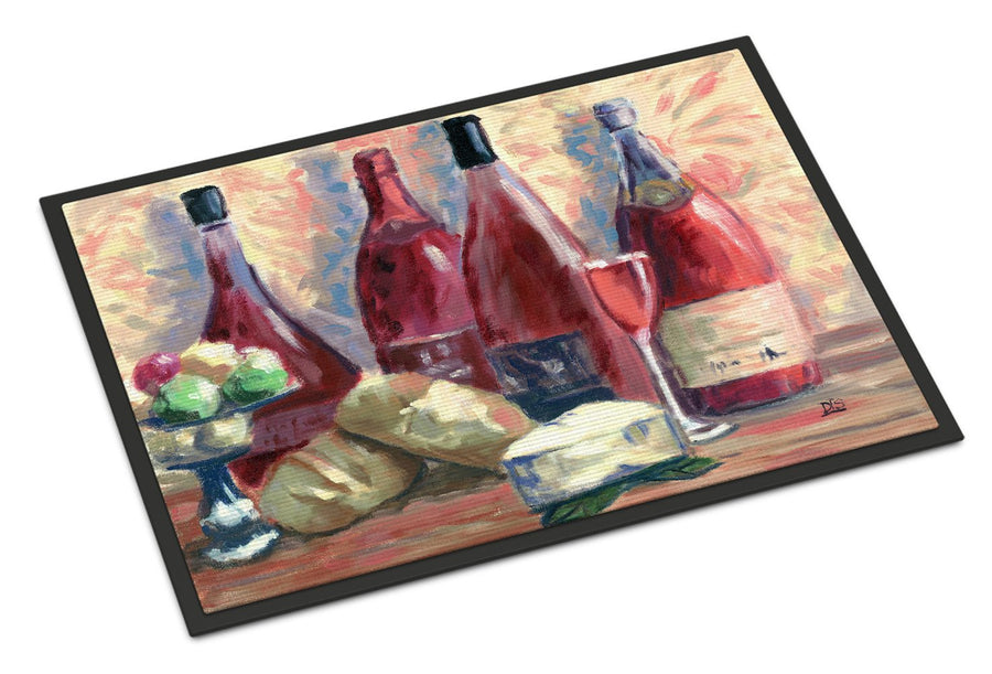 Buy this Wine and Cheese by David Smith Indoor or Outdoor Mat 18x27 SDSM0127MAT