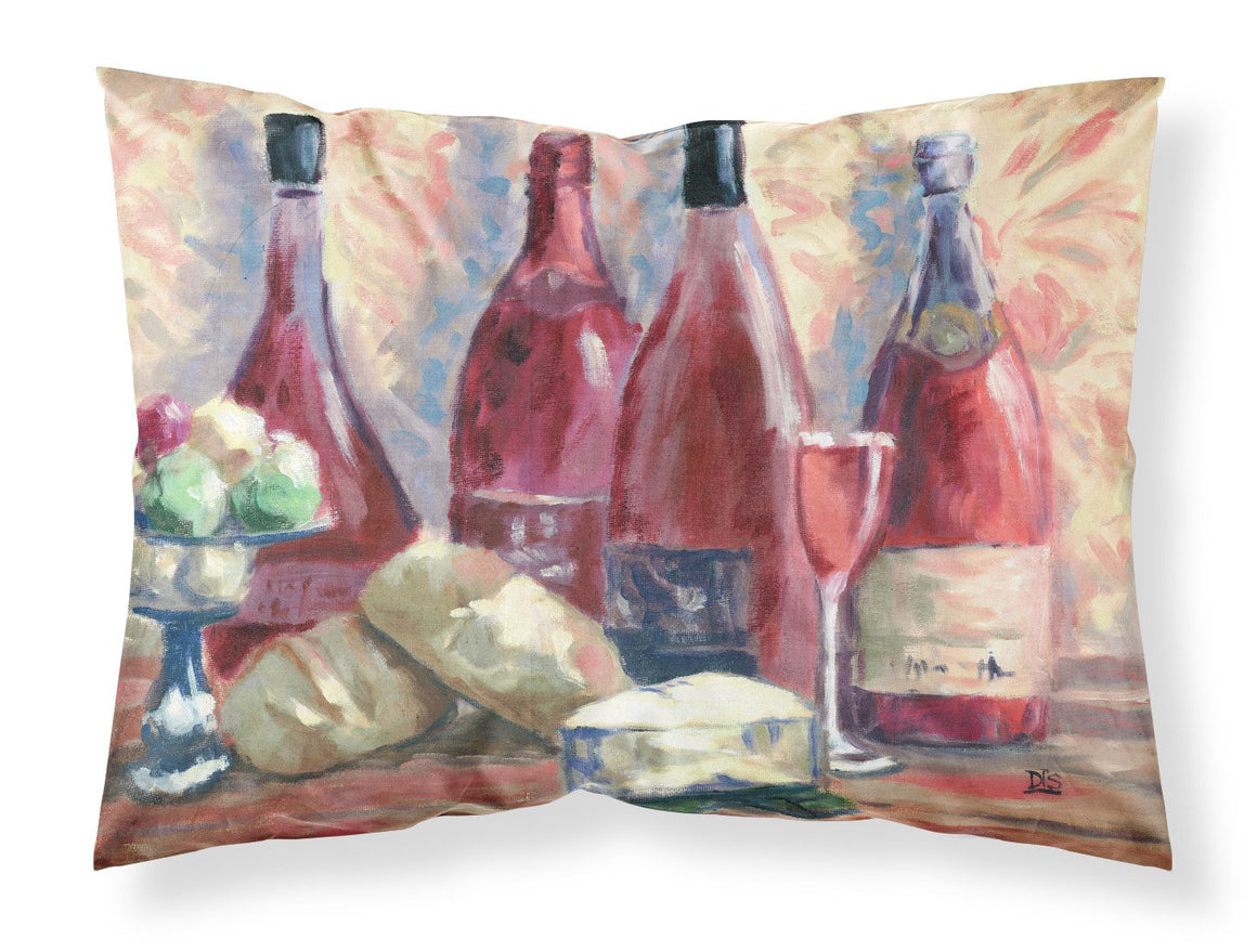 Buy this Wine and Cheese by David Smith Fabric Standard Pillowcase SDSM0127PILLOWCASE