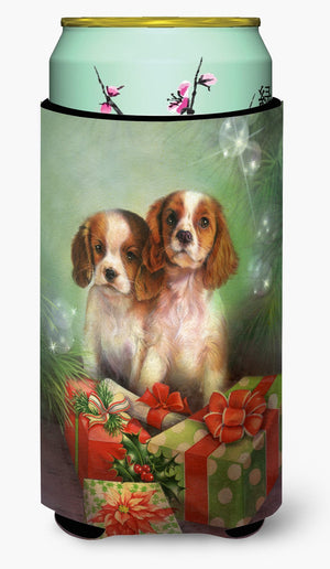 Cavalier Spaniels and Christmas Presents Tall Boy Beverage Insulator Hugger SDSQ0303TBC - the-store.com