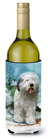 Buy this Old English Sheepdog by Don Squires Wine Bottle Beverage Insulator Hugger SDSQ0304LITERK