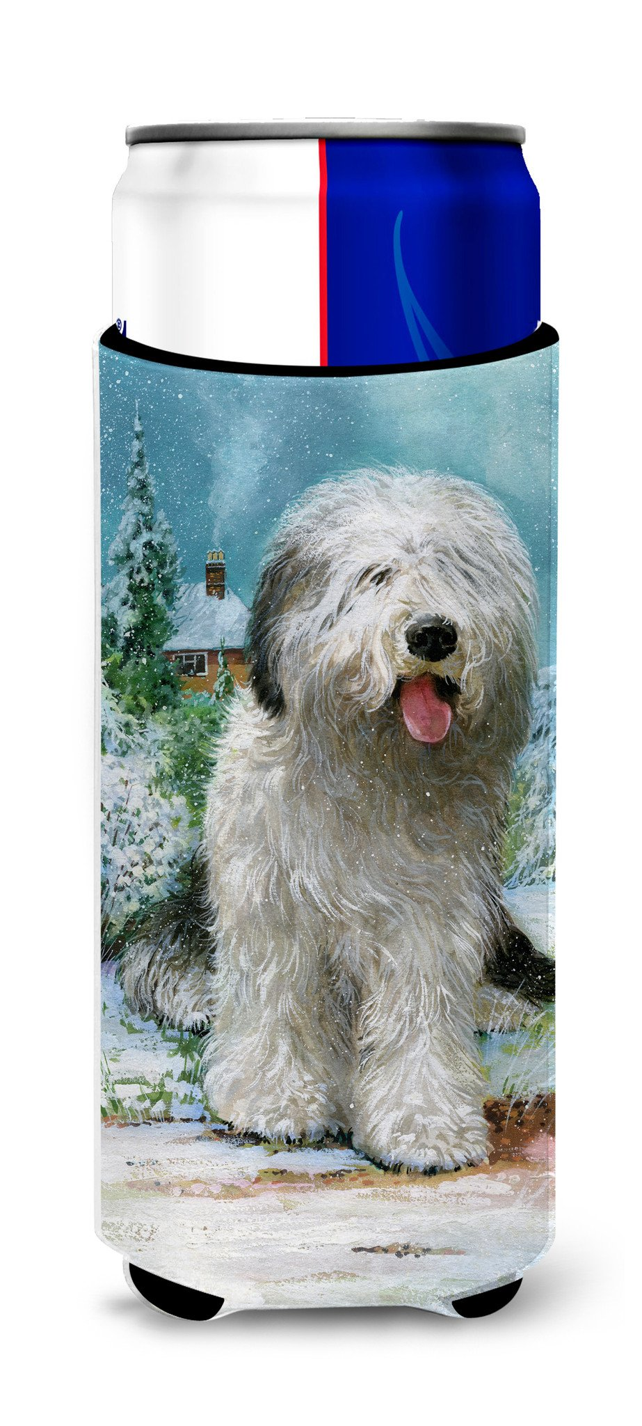 Buy this Old English Sheepdog by Don Squires Ultra Beverage Insulators for slim cans SDSQ0304MUK