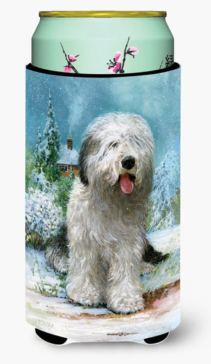 Buy this Old English Sheepdog by Don Squires Tall Boy Beverage Insulator Hugger SDSQ0304TBC