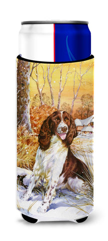 Buy this Springer Spaniel by Don Squires Ultra Beverage Insulators for slim cans SDSQ0388MUK