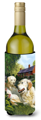 Buy this Yellow Labradors by Don Squires Wine Bottle Beverage Insulator Hugger SDSQ0431LITERK