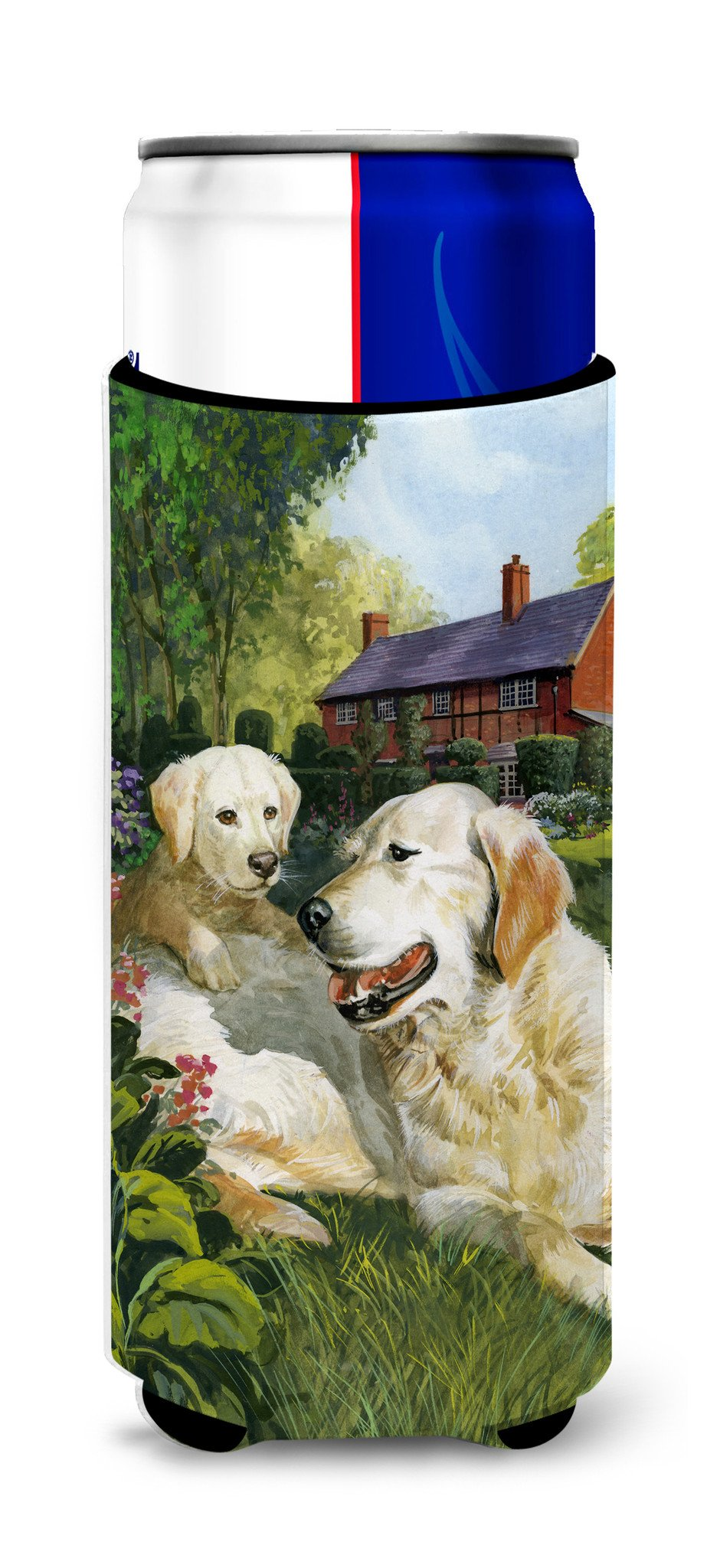 Buy this Yellow Labradors by Don Squires Ultra Beverage Insulators for slim cans SDSQ0431MUK